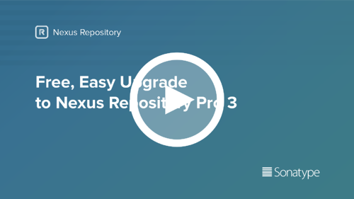 Upgrade to Nexus Repository Pro 3