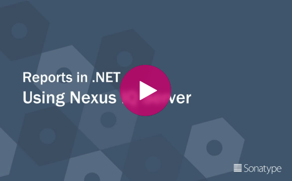 DevSecOps Delivered Reports in .net with nexus iq server