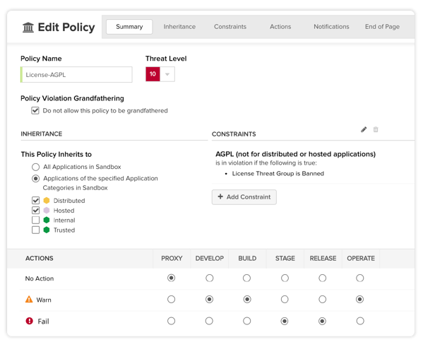 Enforce Policy with Nexus Lifecycle