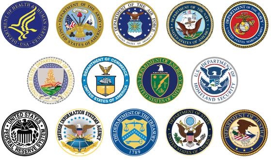 Federal Seals 3 rows