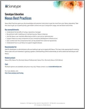 Nexus Repository Best Practices
