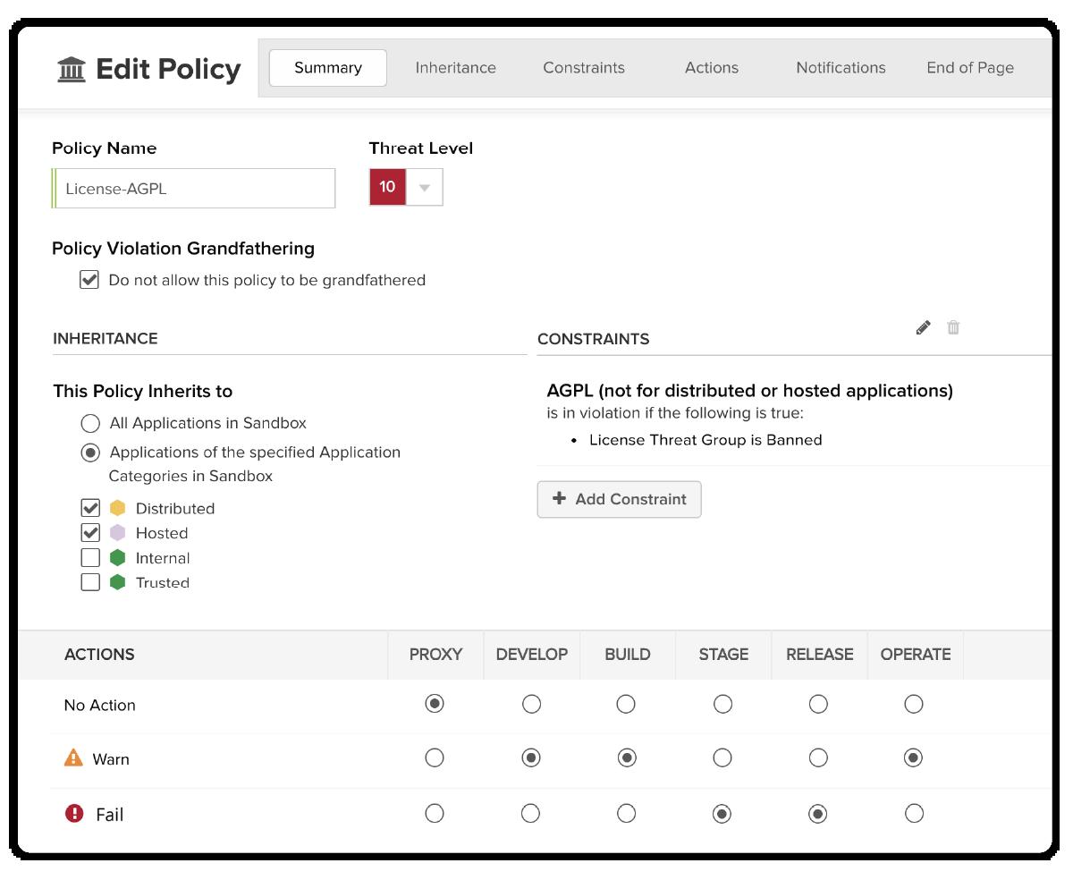 Enforce Open Source Policies