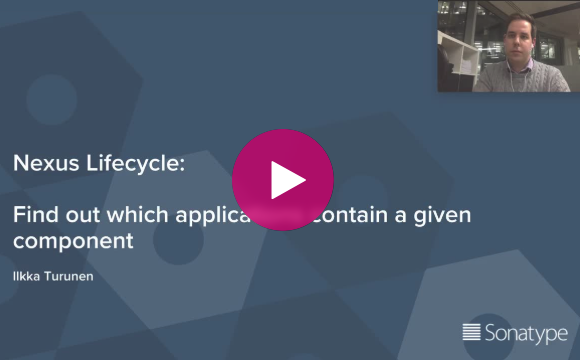 Nexus Lifecycle How to identify newly vulnerable components across your application portfolio