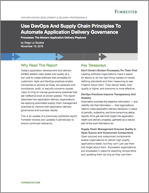 Forrester Research on DevOps and Software Supply Chain Management