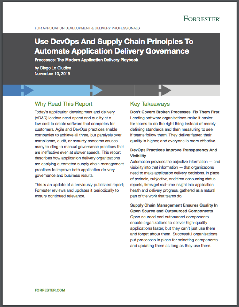 Use DevOps and Supply Chain Principles to Automate Governance