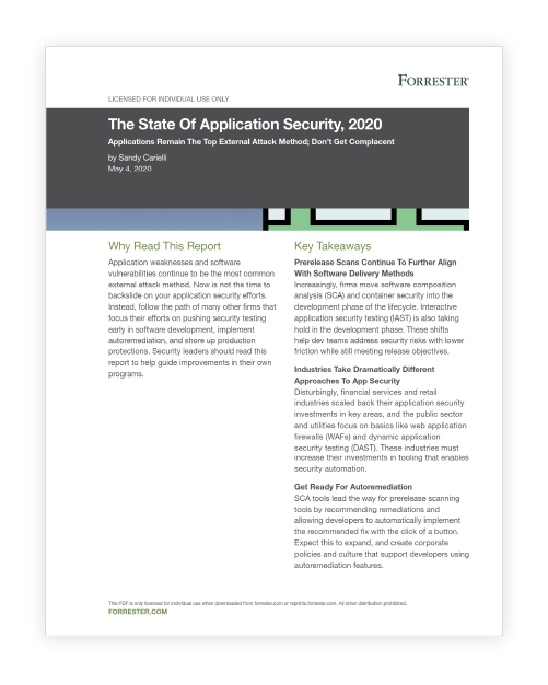 The State of Application