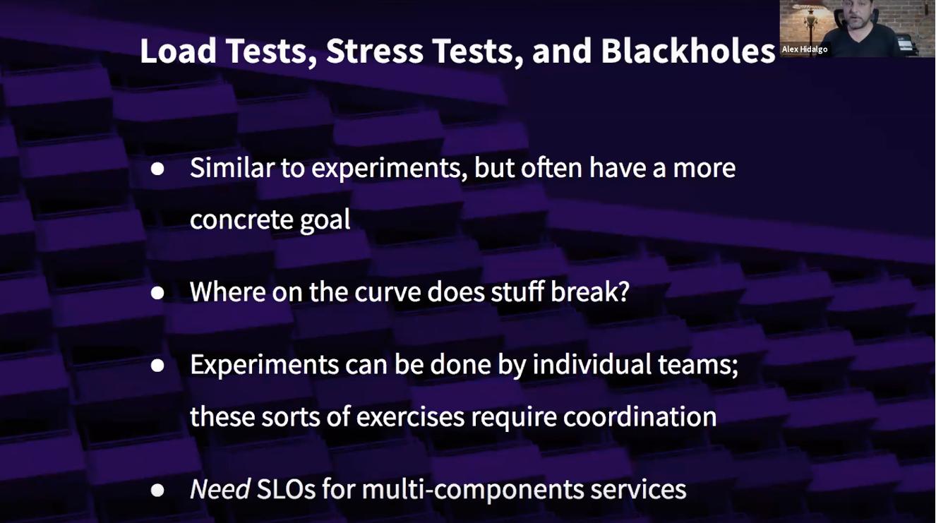 load test, stress test, and blackholes