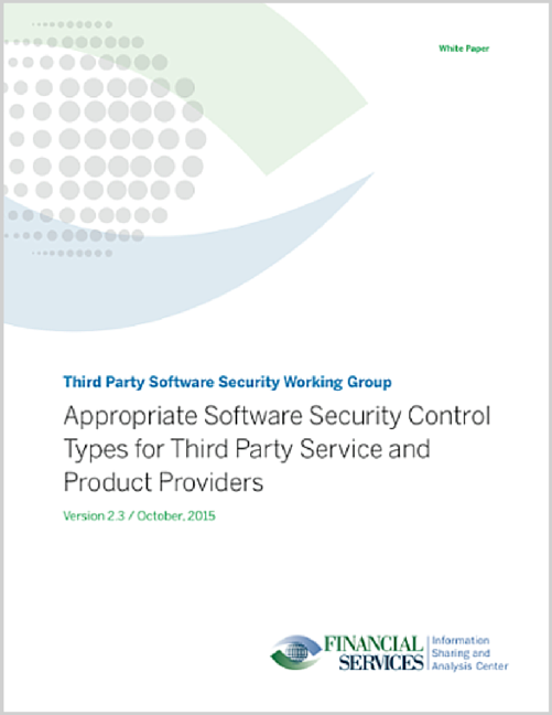 Appropriate Software Security Control Types for Third Party Service and Product Providers
